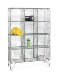 12 door mesh locker