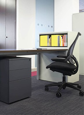 2 drawer undesdesk pedestal graphite