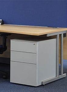 2 drawer undesdesk pedestal