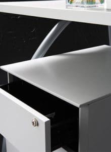 2 drawer undesdesk pedestal lockable