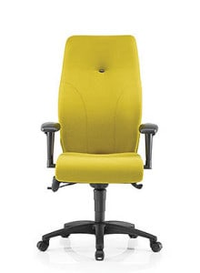 yellow ergonomic high back chair