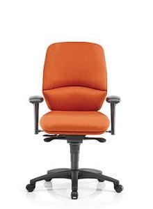 orange ergonomic medium back chair