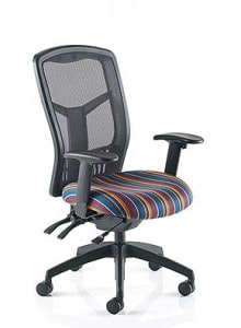 black medium back mesh chair