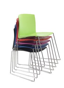 Multi-coloured Polyprop Stacking Chairs