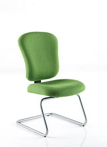 green visitor chair