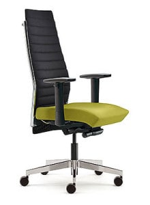 yellow executive high back chair