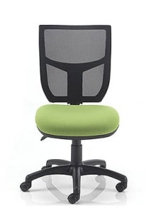 lime green mesh chair