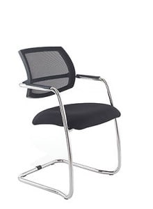 black mesh chair cantilever