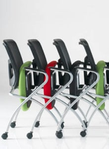 mesh flip up chairs