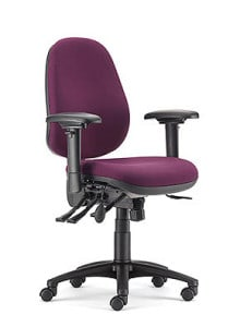 purple posture high back chair