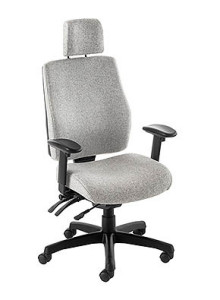 whie posture high back chair