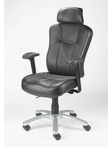 black posture high back chair