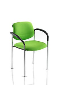 green stacking chair