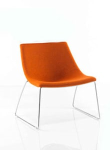 orange tubchair