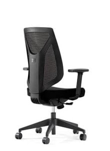 Back of High Back Black Mesh Chair