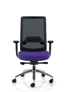 Mesh Chair with Purple Seating