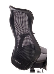 Back of Black Mesh Back Chair