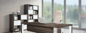 slider desk brown wood white