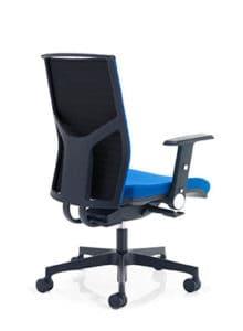 blue black chair