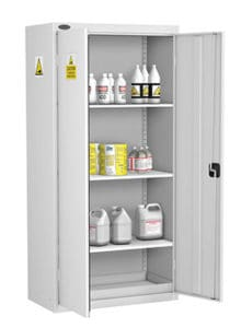 Acid Alkaline Cabinets tall with 3 shelves white tall version