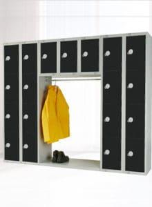 archway space saver locker Black