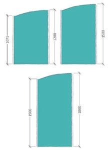 Area Floor standing Screen arch top dimensions