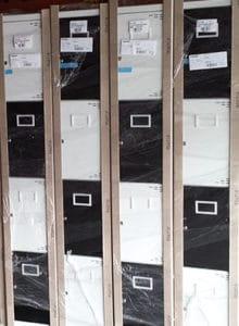 Bespoke lockers black,white
