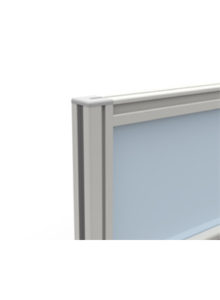 Dash Movable floor standing fully glazed screen detail