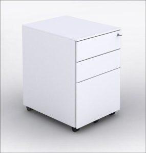 3 drawer Metal pedestal white