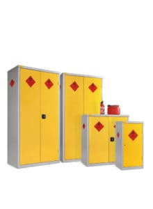 Hazardous Cabinets Yellow