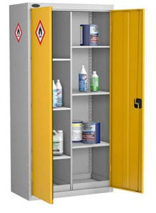 Hazardous Cabinet 8 compartment Yellow
