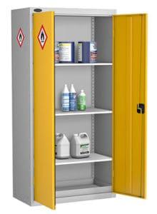 Hazardous Cabinet Tall Shelving Yellow