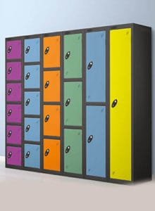 Multicolour lockers