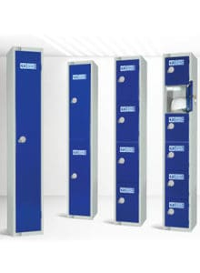 Personal Protective Equipment lockers blue