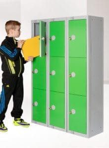 Educational school lockers Green