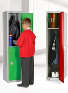 Education School lockers single Green, Red