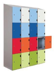 Shockproof Lockers Multi-Coloured