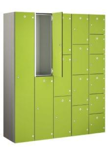 Shockproof aluminium Locker Green