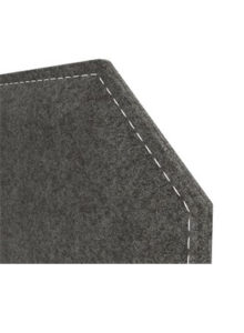 Snug desk mounted fabric screens with chamfered Corner detail