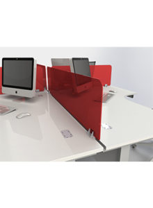 Solitaire straight desk mounted screen