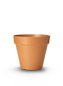 table top pot terracotta