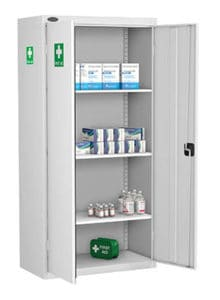 Tall First Aid Cabinet White