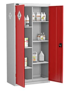 Toxic Cabinets 8 Compartment Red