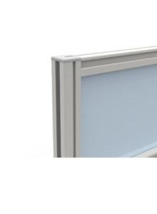 Trinity desk mounted half glazed screen detail