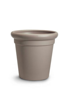 Temple design planter Taupe