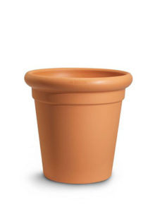 Temple design planter Terracotta